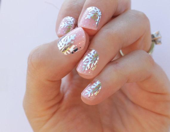 Mariage - Snowflake Transparent Nail Wraps