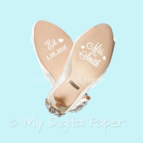 Custom Wedding Shoe Decals