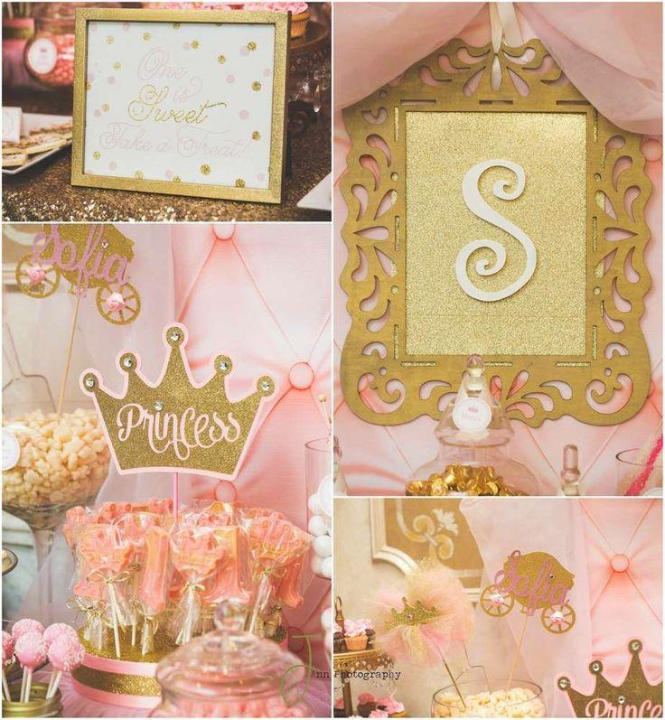 Pink And Gold Princess By Treat Me Sweet Candy Buffets Birthday