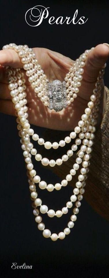 Mariage - Princess Margaret's Art Deco Pearl And Diamond Necklace
