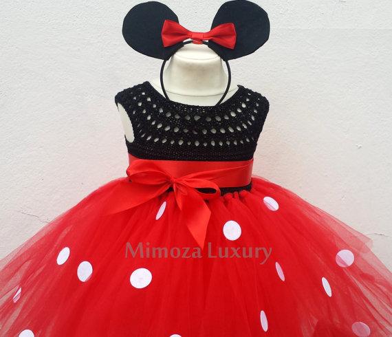 Mickey Mouse Dress Mickey Mouse Birthday Dress Flower Girl Dress