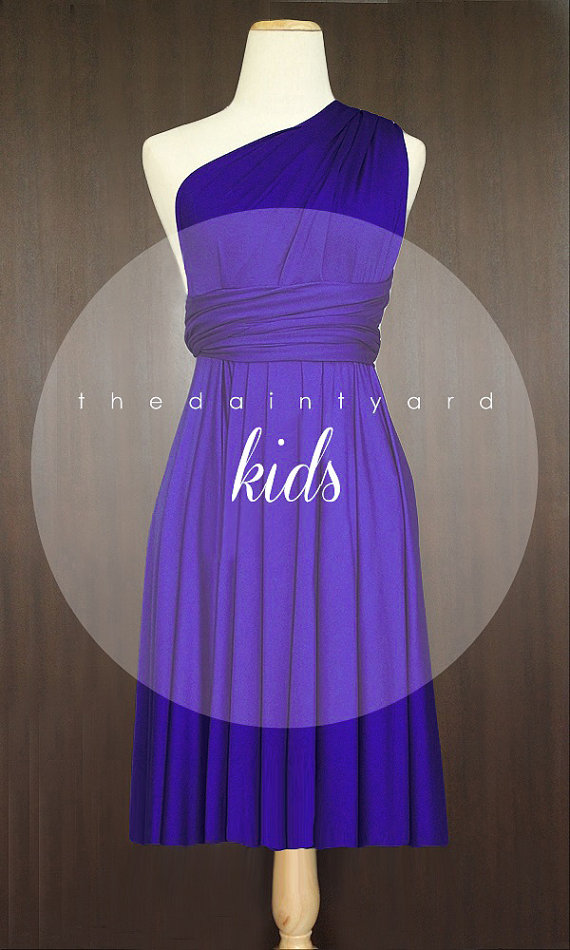 Wedding - KIDS Royal Blue Bridesmaid Convertible Dress Infinity Dress Multiway Dress Wrap Dress Wedding Dress Flower Girl Dress Twist Dress