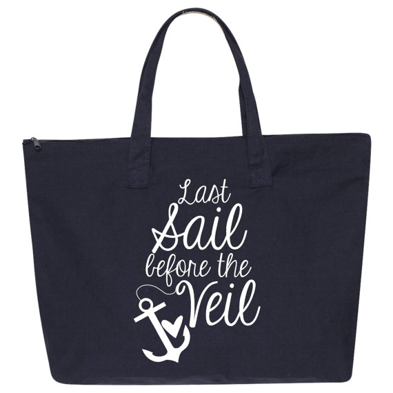 Mariage - 3 Last Sail Before The Veil Canvas Tote Bag. Wedding Tote Bags. Beach Bag. Wedding Gift. Wedding Favor. Bridesmaid Gift. Bride Tote. L84