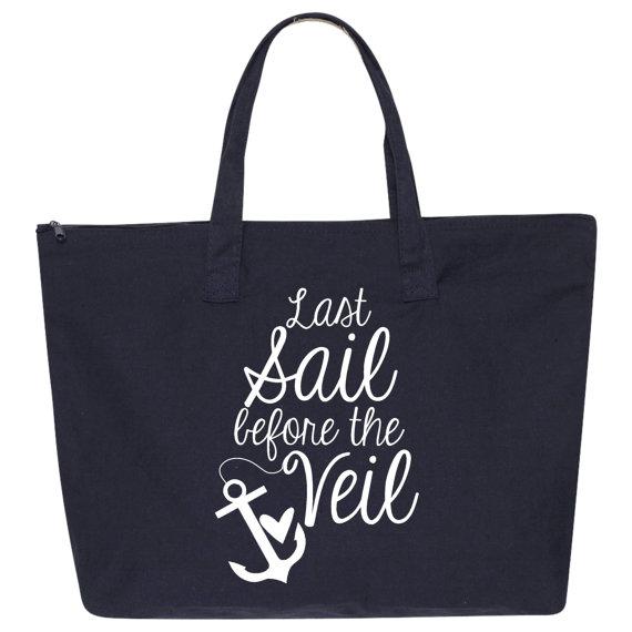 Hochzeit - 3 Last Sail Before The Veil Canvas Tote Bag. Wedding Tote Bags. Beach Bag. Wedding Gift. Wedding Favor. Bridesmaid Gift. Bride Tote. L84