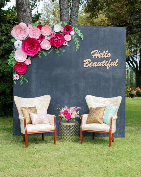 Large Paper Flower Wall Wedding Shower Backdrop Paper