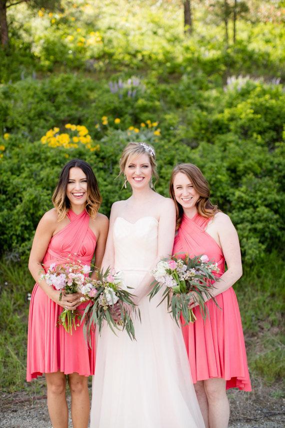 Wedding - Coral Bridesmaid Dresses