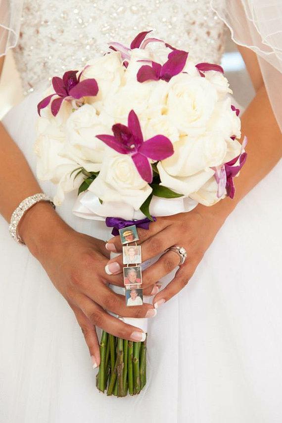 Hochzeit - Four Photo Bouquet Charm
