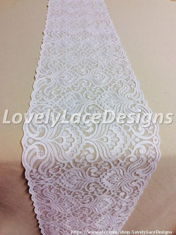 Wedding - Wedding Lace Table Runner, 5ft-10ft x 7in  Wide/Rustic Weddings/Overlay/Wedding Decor/Tabletop Decor/Etsy finds/etsy trends