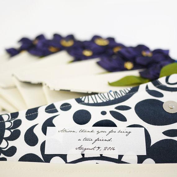 زفاف - Custom Inscription Label, Personalized Bridesmaids Brides Clutches