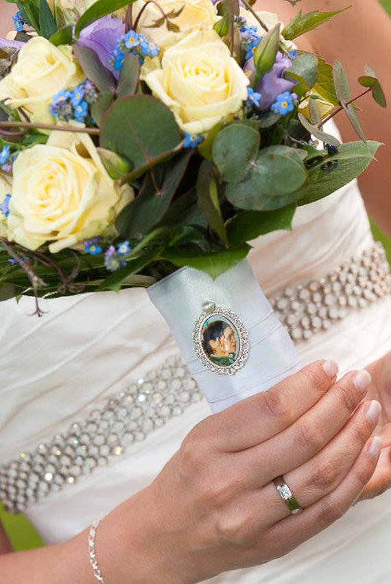 Свадьба - 1 Wedding Bouquet charm kit -Photo Pendants charms for family photo (includes everything you need including instructions)