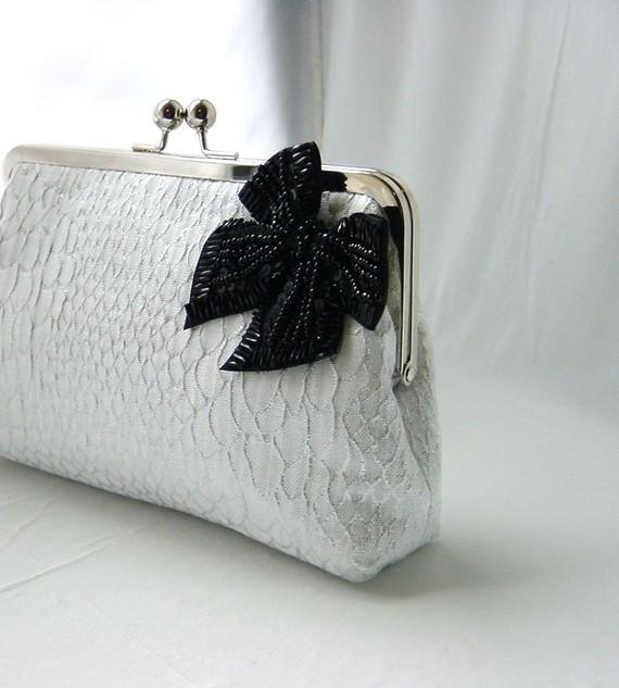 Свадьба - Bridal Clutch - Wedding Clutch - Bridesmaids Clutch - Wedding Gifts - White Bridal Clutch Purse - Natalie Clutch
