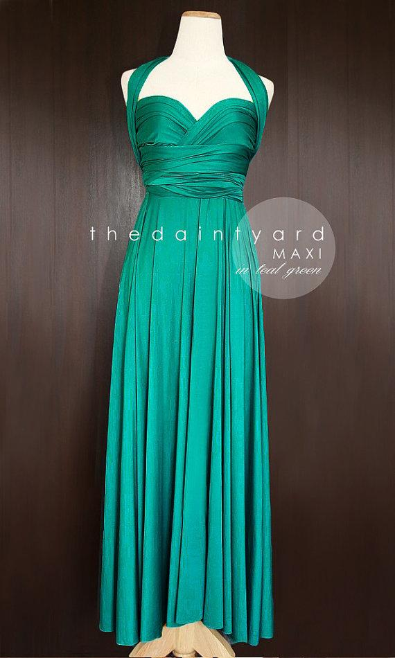 50972352e6 MAXI Teal Green Bridesmaid Dress Convertible Dress Infinity Dress Multiway  Dress Wrap Dress Green Full Length Dress Maid of Honor Dress