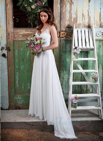 a0cbb86ac73 Sexy Spaghetti Straps Flowy Chiffon Boho Wedding Dress  2384096 ...
