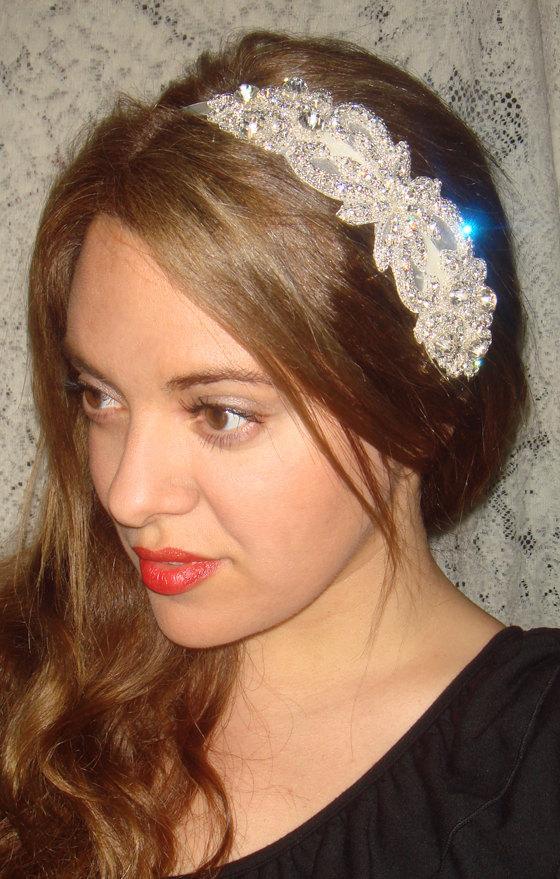 Wedding - Rhinestone Headband- Mademoiselle, Bridal Headband, Headband, Wedding Headpiece, Bridal Headpiece, Accessories