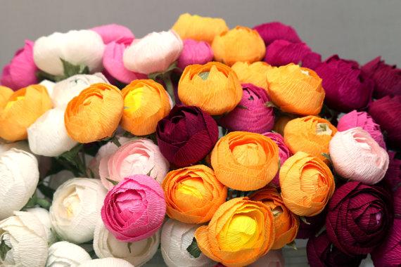 Bridal flower wedding flower paper flower bouquet wedding bouquet bridal flower wedding flower paper flower bouquet wedding bouquet bridal bouquet ranunculus bouquet paper ranunculus wedding decor mightylinksfo