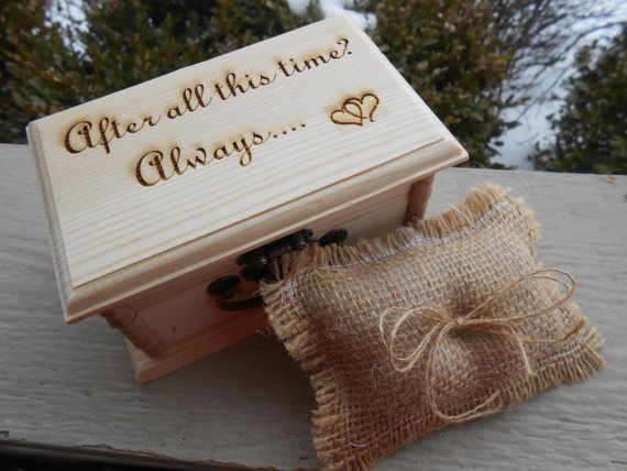 harry potter ring box pillow choose your pillow style after all this time always wedding accessories ring bearer bridal chest - Harry Potter Wedding Rings