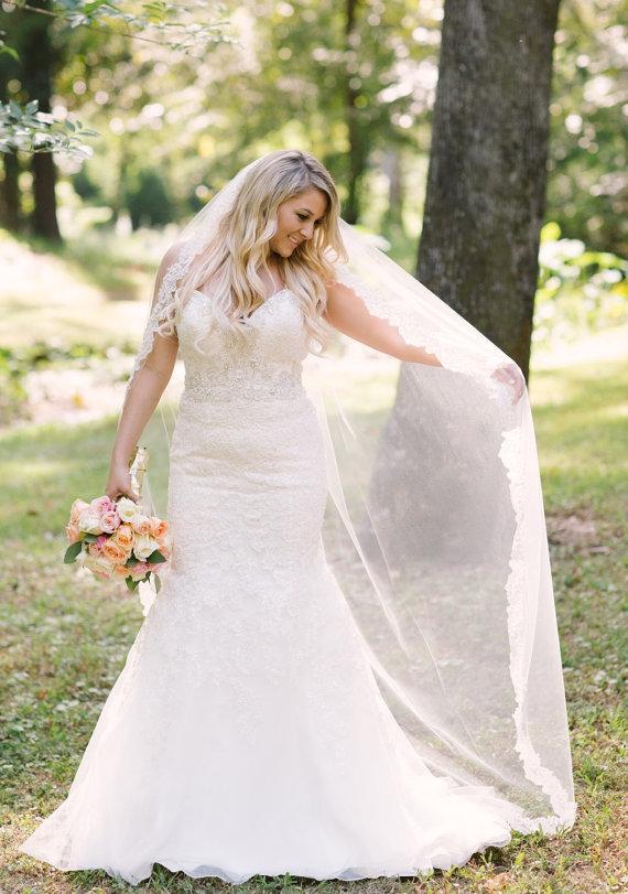 Свадьба - Simple Lace Wedding Veil