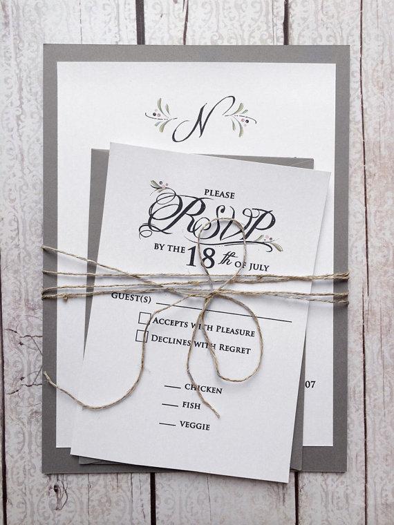 Winter Wedding Invitations Grey Wedding Invitations Gray And