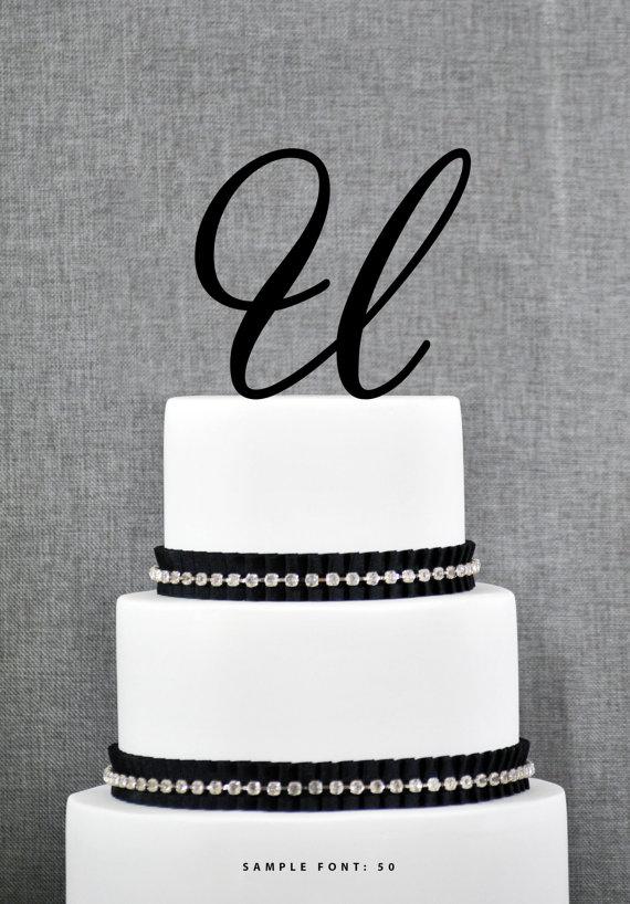 Mariage - Personalized Monogram Initial Wedding Cake Toppers -Letter U, Custom Monogram Cake Toppers, Unique Cake Toppers, Traditional Initial Toppers