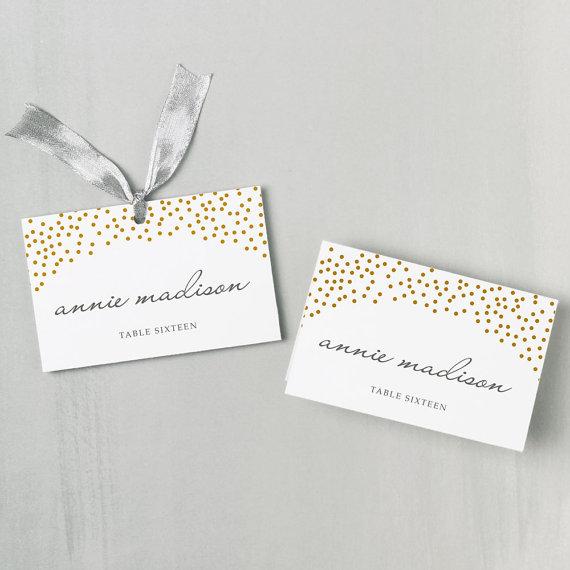 زفاف - Printable Place Card Template