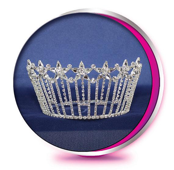 Mariage - The Shooting Stars - Rhinestone Tiara - Pageant, Wedding, Prom, Homecoming, or Bridesmaid Crown