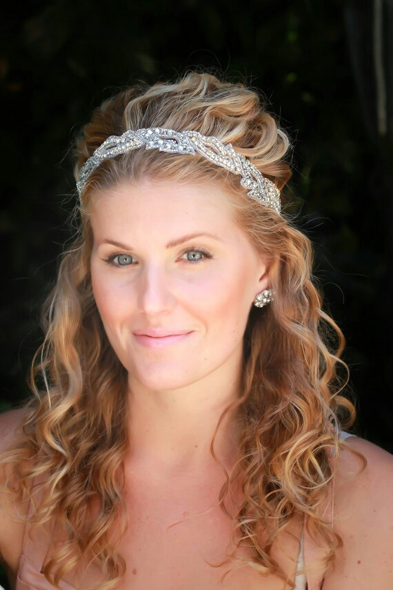 Wedding - Ready To Ship- Sophie bridal headband, wedding headband, rhinestone headband, bridal hair accessories, bohemian bridal headband