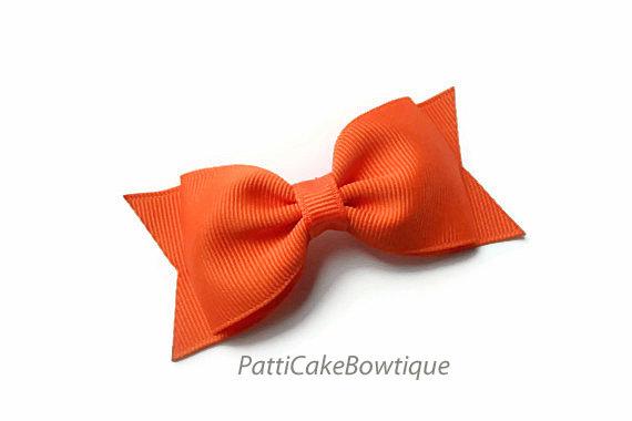 زفاف - Baby Girls Orange Bow, Halloween Hair Bow, Tuxedo Hair Clip, Orange Hair Bow, Baby Hair Bow, Toddler Bow, Girls Bow, No Slip Hair Clip, 41
