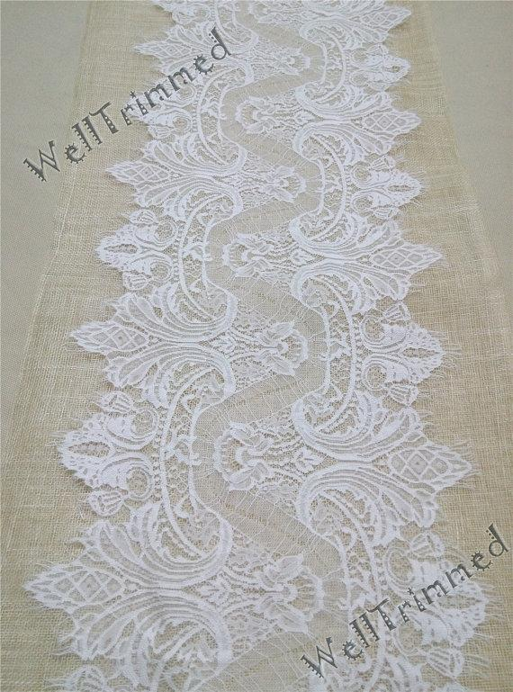 wedding 20 ft lace table runner 12 wide lace table runner wedding