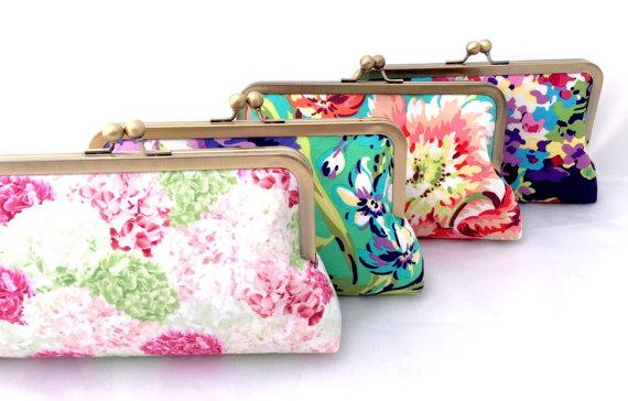 Bridesmaids Clutches Fl Handbags