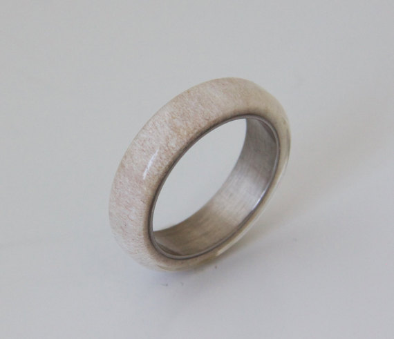 band ring meteorite clean grande casting deer antler rings wedding tungsten products mens