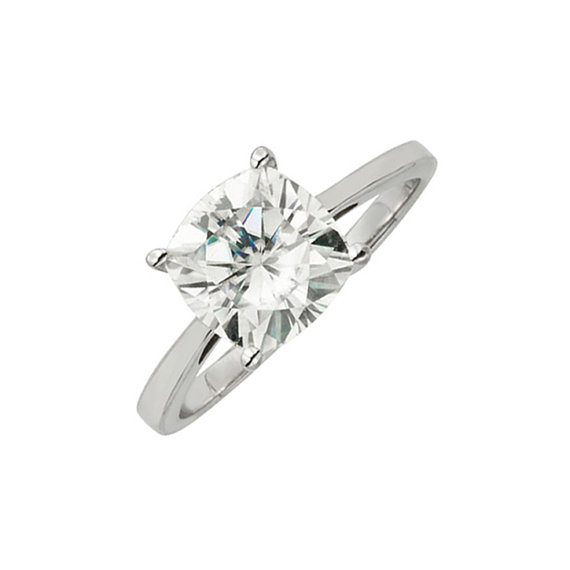 Mariage - 14k White Gold Solitaire Engagement Ring With 2.8 CT TW DEW Moissanite Stone