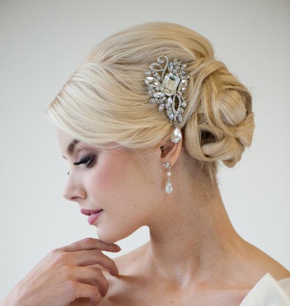 Wedding - Bridal Hair comb, Crystal Hair comb, Wedding Hair Accessory, Bridal Hair Adornment - PIA