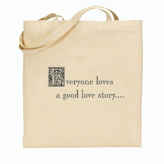 Свадьба - 50 Wedding Welcome Bags-Personalized Wedding Tote - Everyone loves a good love story