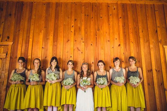 Wedding - Custom Wedding Skirt, Hi-Lo Hem