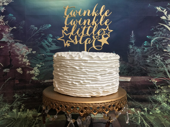 Свадьба - Twinkle Twinkle Little Star (cake topper)