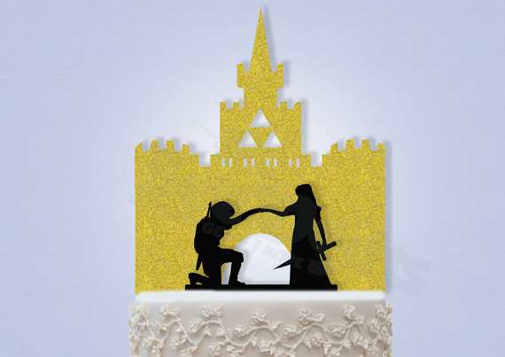 Свадьба - Link and Zelda with Castle Topper