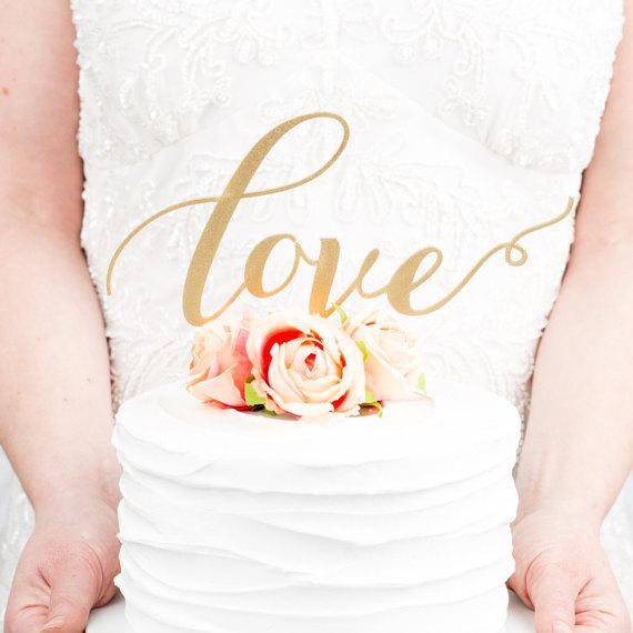Свадьба - Love Wedding Cake Topper