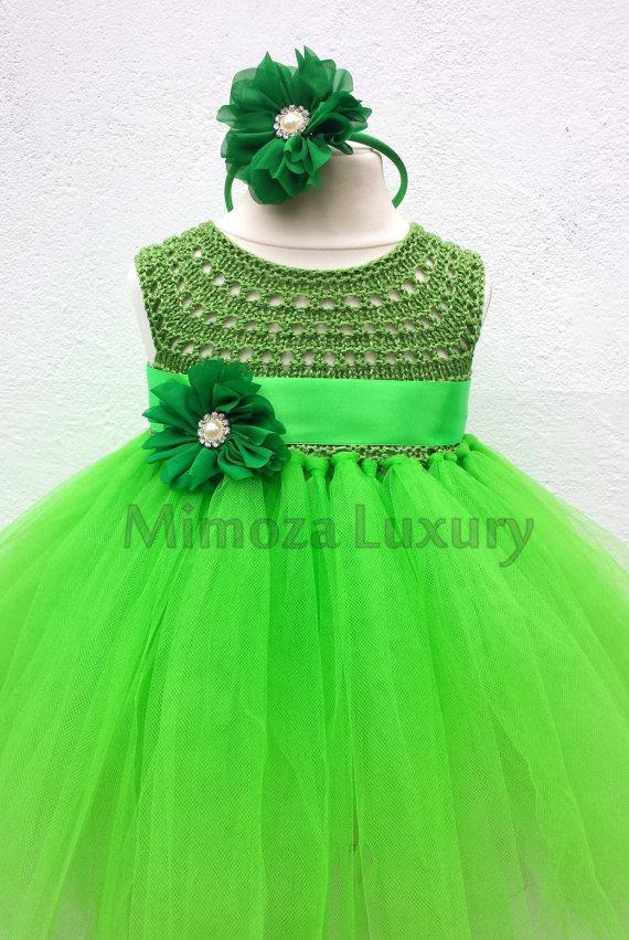 Green fairy flower girl dress apple green tutu dress for Apple green dress for wedding