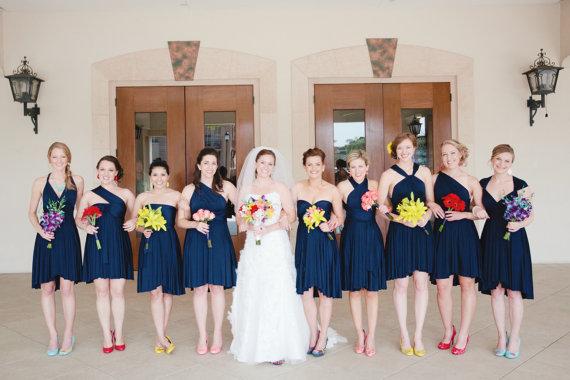 Свадьба - Navy Bridesmaid Dresses