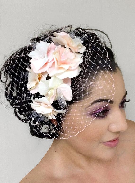 Mariage - Pink Hydrangea Veil