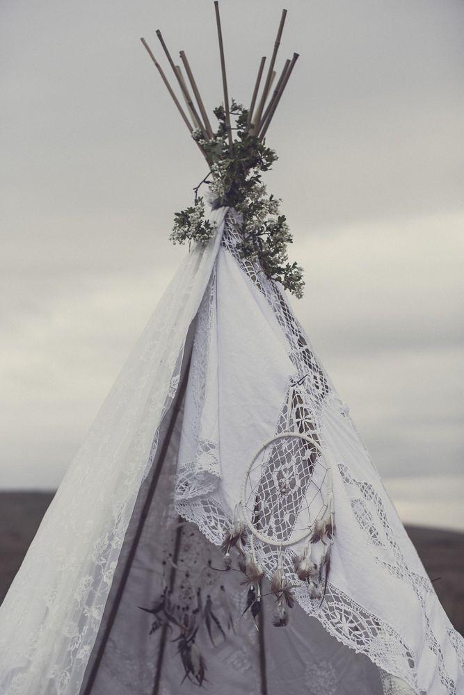 Wedding - An Original 1970'S Wedding Dress For A Luxe Boho Bridal Shoot With Smores - The Gallery - Wedding Blog