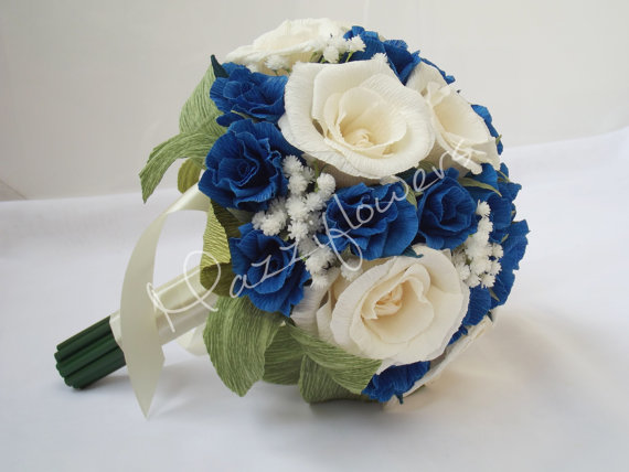Paper Flower Bouquet,wedding Bouquet,bridal Bouquet,paper Flowers ...