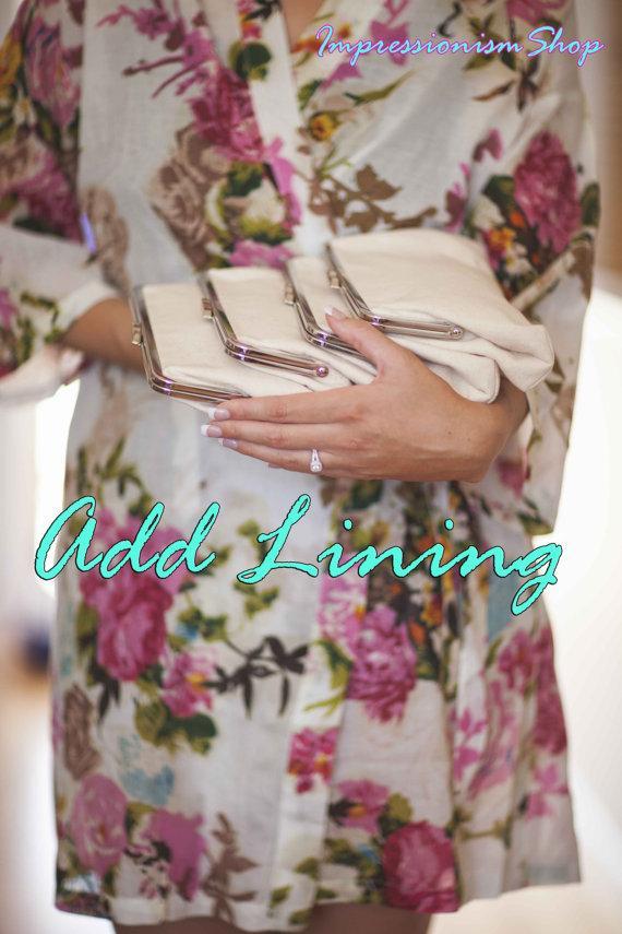 زفاف - Add partially Lining Material Pure Cotton of Body Robes ONLY, Sleeve robe parts, Neck part ,Belt Tie DO NOT Add liner