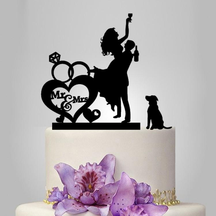 Mr And Mrs Wedding Cake Topper With Rings 2386260