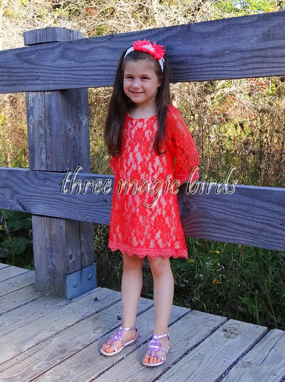 زفاف - Flower Girl Dress-CORAL Flowergirl-Long Sleeve Girl Dress-Champagne Rustic Fall Wedding-Country Flower Girl-Thanksgiving-Bridesmaid Dress