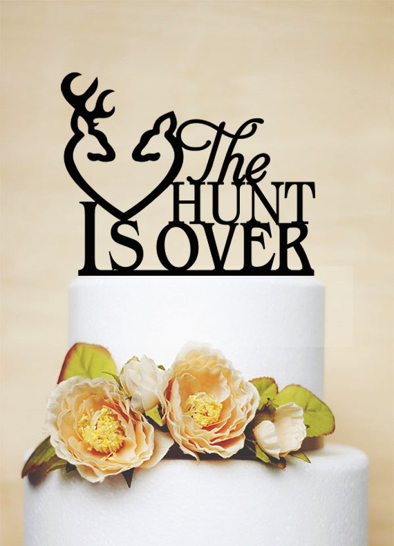Свадьба - Wedding Cake Topper,Custom Cake Topper,Rustic Cake Topper,Custom Cake Topper,Hunter Cake Topper,Love Cake Topper-P047