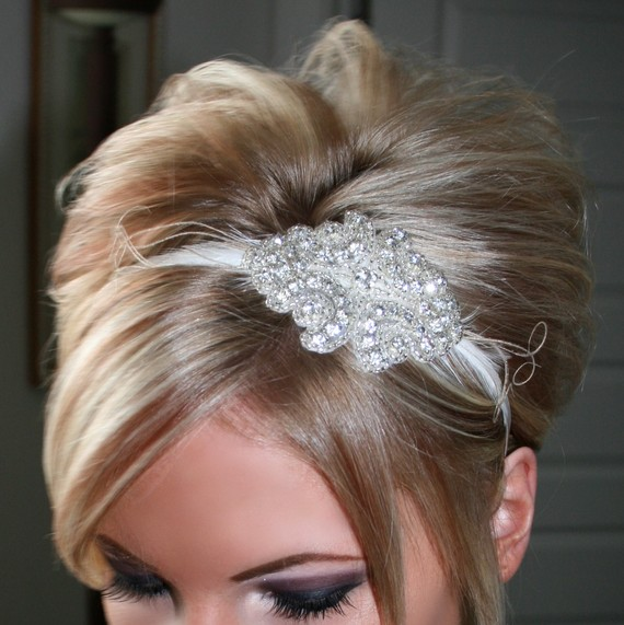 Mariage - Bridal Rhinestone Headband, Bridal Headpiece, Rhinestone Headband, Bridal Headband
