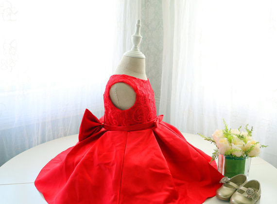 Hot Red Sleeveless Toddler Christmas Dress, Infant Baby ...
