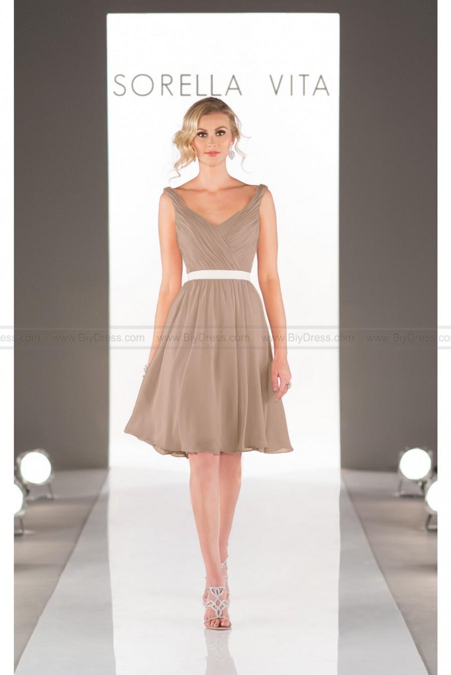 Wedding - Sorella Vita Short Bridesmaid Dress Style 8508
