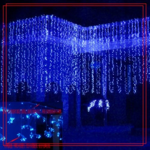 Düğün - 32 feet 100 LED String Fairy Lights Christmas Wedding Garden Party Xmas Light, Blue